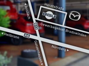Anfahrt zu unserem Standort in Ansbach Brodswinden