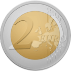 Abbild einer 2 Euro Münze